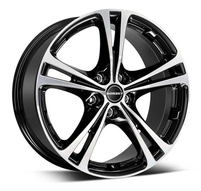 Borbet XL black polished